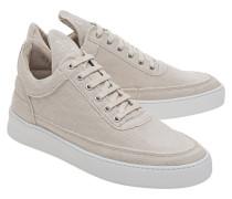 Sneakers aus Leder und Canvas  // Low Top Jenna Beige