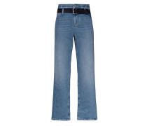 Straight-Leg Jeans mit Gürtel Detail