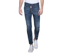 Jeans mit Zipper-Detail  // Skater Limited Zip Blue