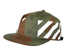 Gemusterte Snapback-Kappe  // Diag All Over Camou