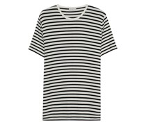 Gestreiftes Feinstrick-Shirt