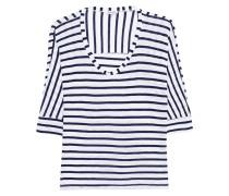 Gestreiftes Jersey-Longsleeve  // Venice Stripe Dolman White Blue