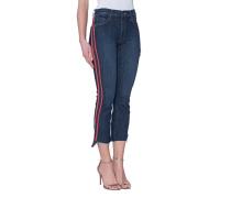Crop-Jeans mit Paspelierung