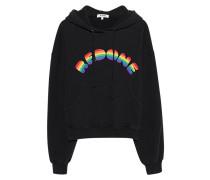 Hoodie mit Stickerei  // Rainbow Black