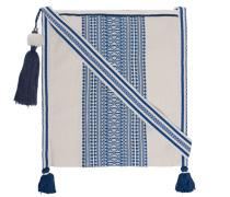 Schultertasche aus Baumwolle  // Adi Ecru Blue