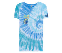 Viskose-T-Shirt im Batik-Look  // Patches Turquoise