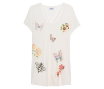 T-Shirt mit Schmetterlings-Print  // Presley Faded White