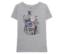 T-Shirt mit Print  // Guitar Grey Melange