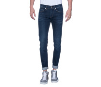 Washed-out Slim-Fit-Jeans  // George Suter