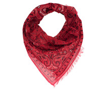 Tuch mit Paisley Print  // Light Pashmina Small Pattern Red