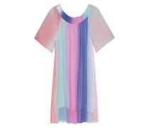 Schulterfreies Viskose-Kleid  // Rainbow Mini Off Shoulder