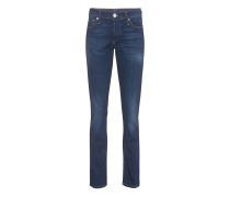 Straight-Leg Jeans  // Liv Low Rise Relaxed Skinny Ballad Blu