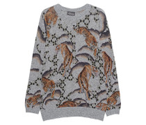 Gemusterter Woll-Mix Pullover