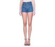 High-Waist Jeans Shorts  // Clean Denim Blue