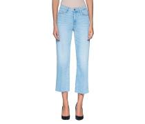 Wide-Leg Jeans mit offenem Saum