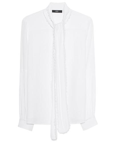 Schluppen-Bluse mit Spitzen-Details