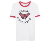 T-Shirt mit Schmetterling-Motiv