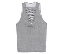 Baumwoll-Top mit Schnürung  // Dirty Work Lace-Up Grey