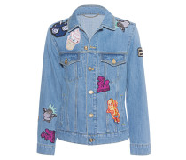 Denim-Jacke mit Aufnähern  // Patches Denim Light Blue