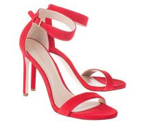 Veloursleder High-Heel Sandaletten