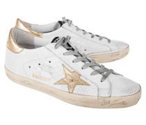 Leder-Sneakers mit Snake-Musterung  // Superstar Print Snake White
