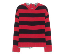 Loose Knit Stripes Red