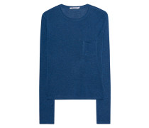 Meliertes Longsleeve  // Classic Cropped Long Sleeve Blue