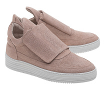 Leder-Sneakers mit Klettverschluss  // Low Top Single Velcro Pink
