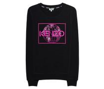 Besticktes Baumwoll-Sweatshirt  // Sweater Globe Black