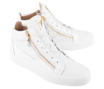 Leder-Sneakers mit Zippern
