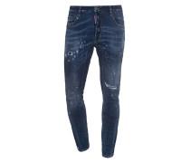Destroyed-Jeans mit Stickerei