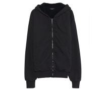 Baumwoll-Hoodie mit Zipper  // Sherpa Black