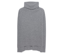 Kaschmir-Rollkragenpullover  // Ripped Oversize Grey