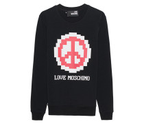 Sweatshirt mit Logo Print  // Logo Peace Black