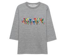 Baumwoll-Sweatshirt mit Fransen