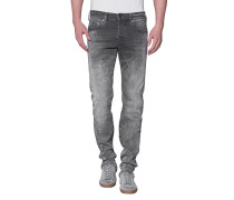 Slim-Fit Jeans im Washed-Out Look  // Rocco Grey Used Denim