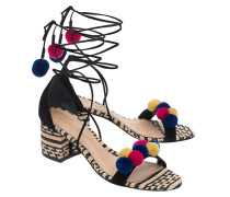 Geschnürte Block-Heel-Sandalette  // Ethno Chic Multi
