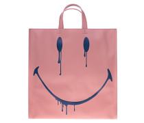 Shopper-Bag mit Smiley-Print