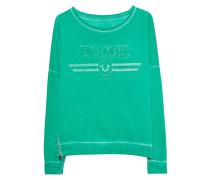Sweater mit Stickerei  // Crew Artwork Green