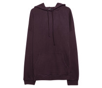 Oversize-Baumwoll-Hoodie  // Single Layer Bordeaux