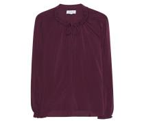 Viskose-Bluse mit Rüschen  // Tunic Plum