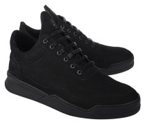 Flache Leder-Sneaker  // Low Top Ghost Basic All Black