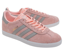Flache Nubukleder-Sneaker  // Gazelle Haze Coral