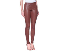 Lammleder-Leggings mit hohem Bund  // Legging Leather Cognac