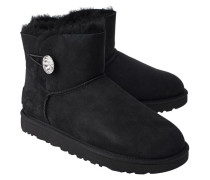 Lammfell Stiefel  // Mini Bailey Button Bling Black