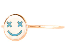 18 Karat Roségold-Ring  // Circle Crazy Eye Maya Blue