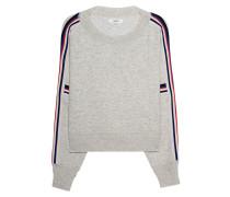 Feinstrick-Pullover mit Galonstreifen  // Kao Beige