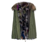 Parka-Jacke mit Fellfutter  // Army Mini Patch Fox Multicolor