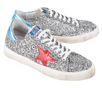 Glitzernde Sneakers  // May Grey Glitter Red Star