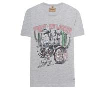 Baumwoll-T-Shirt mit Print  // Desert Bike Grey Melange
